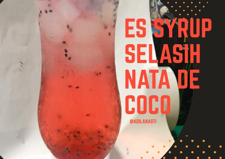 Es Syrup Selasih Nata de Coco