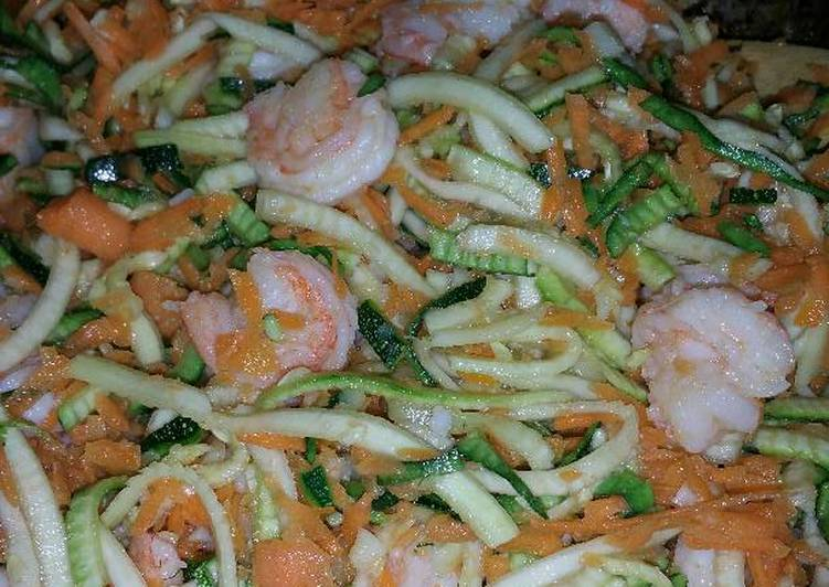 New Secret Garlic Butter Shrimp over Spiralizer Zucchini Free Download