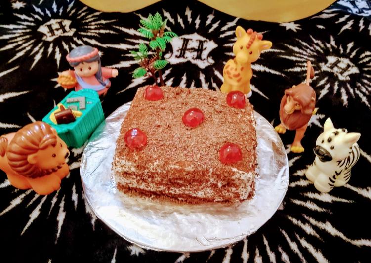Bread ka black forest cake