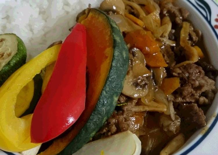 Recipe: Yummy Hayashi Rice with tons of vegetables