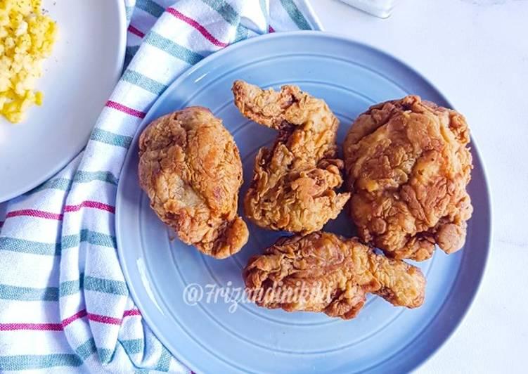 Kentucky fried chicken (ayam goreng crispy ala KFC)