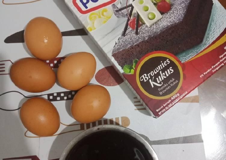 Brownies Kukus (Pondan Premix)