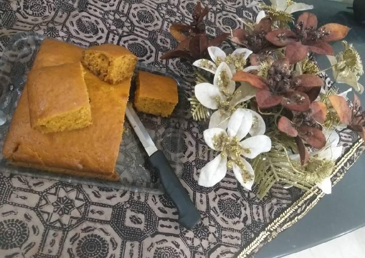 Orange and carrot cake soft and tea taim cake with tea