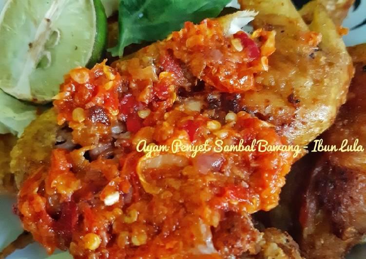 Ayam Penyet Sambal Bawang Simpel