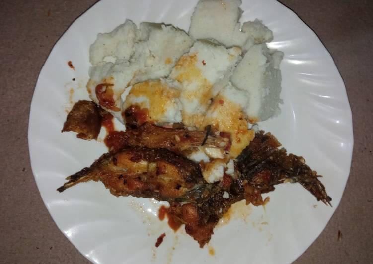 Tilapia fish and ugali