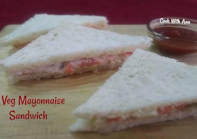 Veg Mayonnaise Sandwich Recipe By Ananta Bachani Cookpad