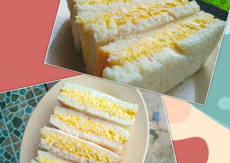 Resep Tamago Sando たまごサンド (Japanese Egg Sandwich) Paling Mudah