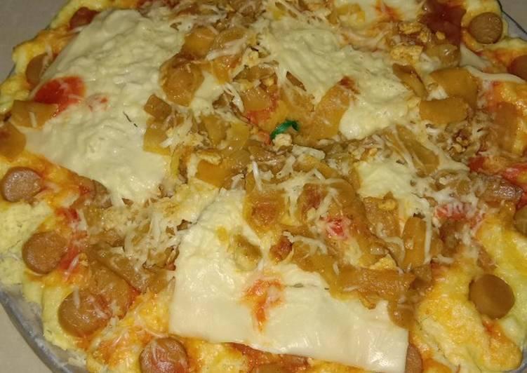 Roti pizza kukus