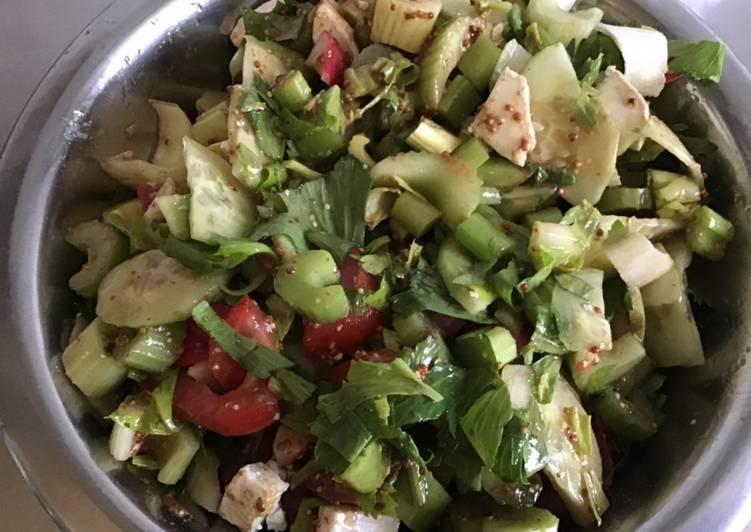Recette Des Salade croquante au céleri et fromage de chèvre