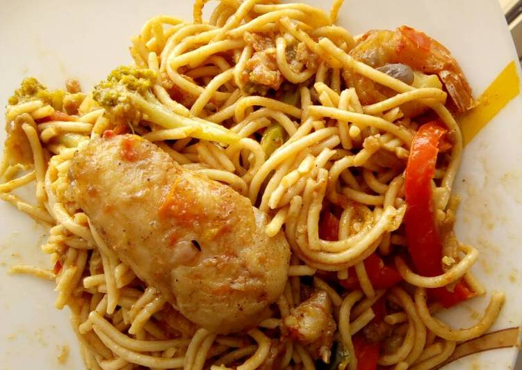 Pasta with chicken breast tomato sauce