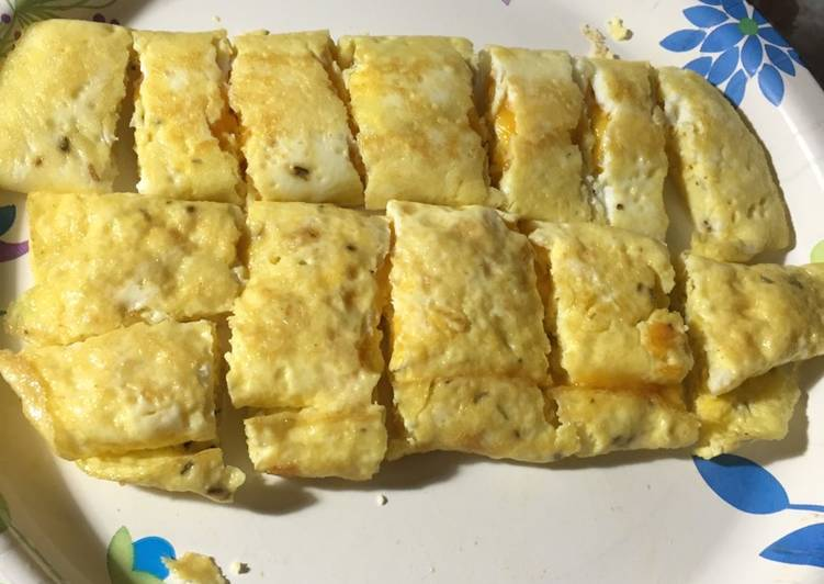 Easiest Way to Prepare Appetizing Rolled Omelette