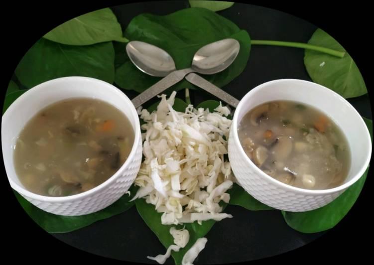Veg Sweet Corn Mushroom Soup
