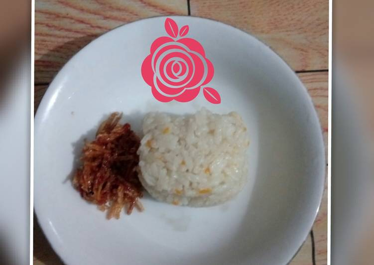 Resep Nasi uduk sayur udang rice cooker no MSG (menu anak gtm) Terenak