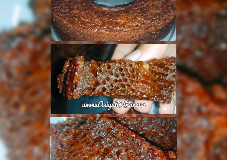 cara masak Sarang semut (bolu karamel) - Sajian Dapur Bunda