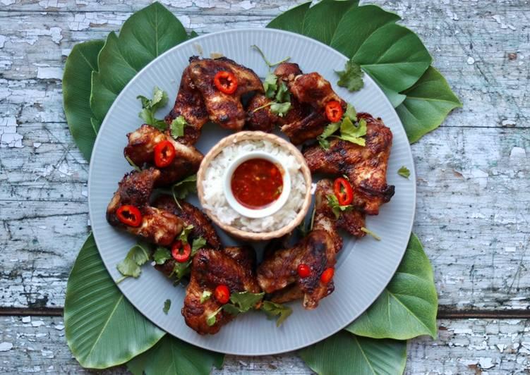 Festive Thai Chicken wing wreath 🎄