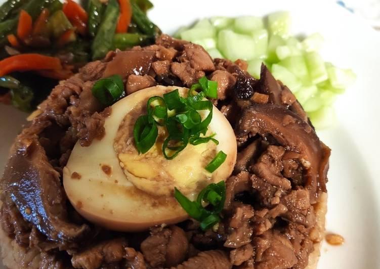 Nasi Tim Ayam Jamur Rice Cooker