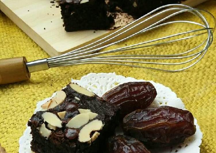 Brownies kurma simple no mixer