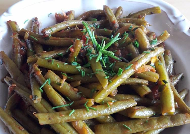 recette Haricots verts à l'italienne le délicieux