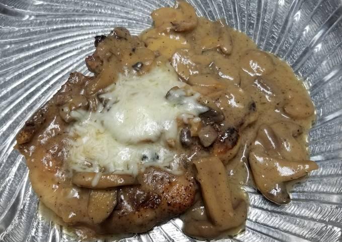 Mushroom marsala pork chops