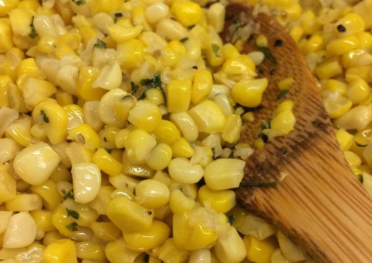 Country Fried Corn with Fresh Garlic