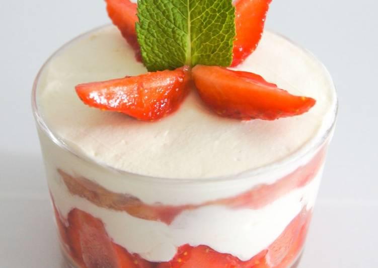 Comment faire Cuire Appétissante Tiramisu aux fraises