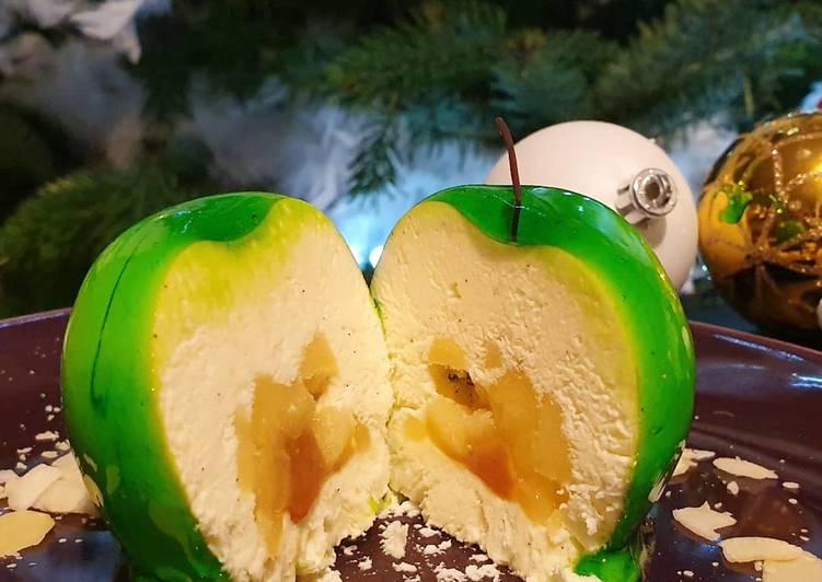 Comment Préparer Les Crémeux vanille insère pomme et caramel