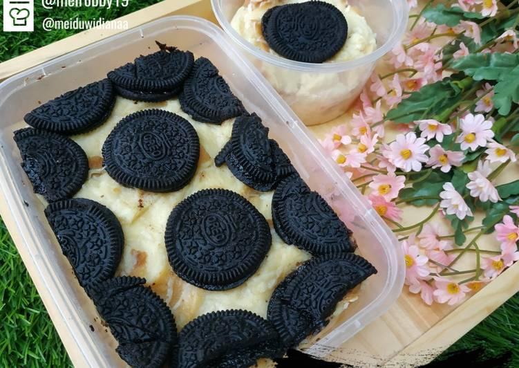 Pudding Roti Tawar Kukus Oreo