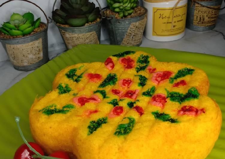 Cara mudah membuat Cake Jelita Labu Kuning Lowcarb/Debm/Keto