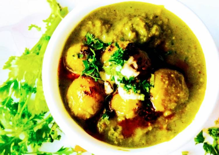 Simple Way to Prepare Perfect Dum aloo in Thai green curry