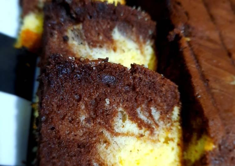 resep memasak Bolu Jadoel Marmer Cake - Sajian Dapur Bunda
