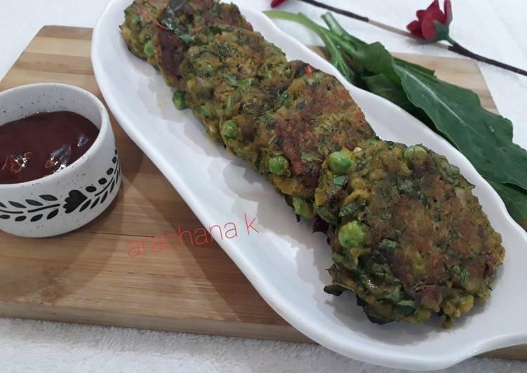 Soyabeen lentil green kabab