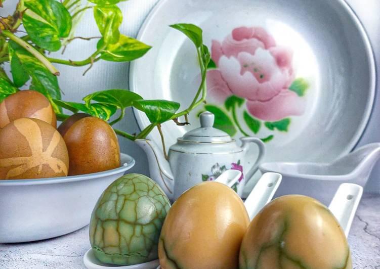 Telur Pindang Bunga Telang - resepipouler.com