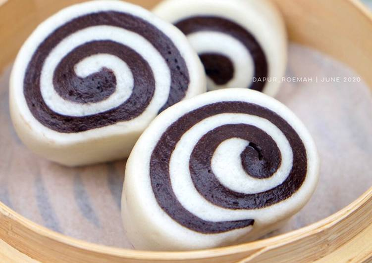 Mantou Gulung Coklat