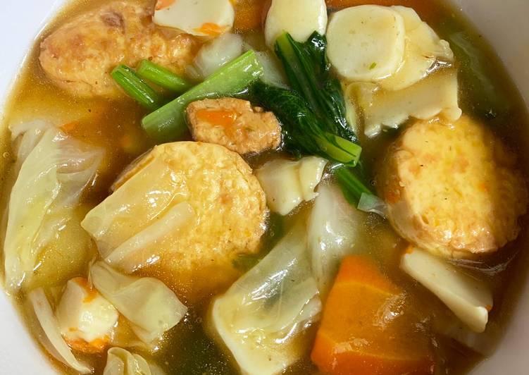 Resep Sapo Tahu Seafood Vegetarian Praktis Resep Masakanku