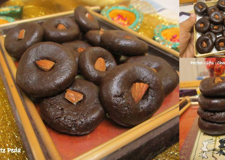 Chocolate Peda Ready in 15 Minutes: Gooey Chocolate Balls