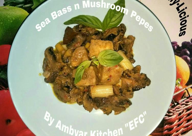 🍀Sea Bass n Mushroom Pepes Healthy-Licious🍀