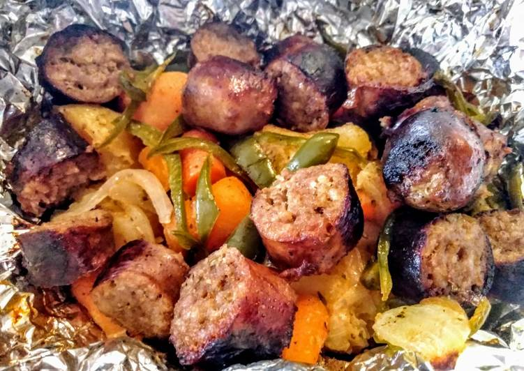Sausage and Potato Foil Packs