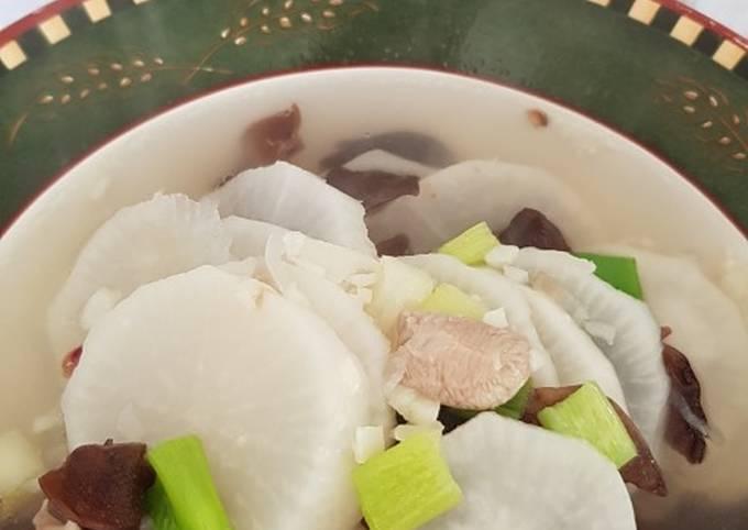 Sup Lobak bahan minimalis