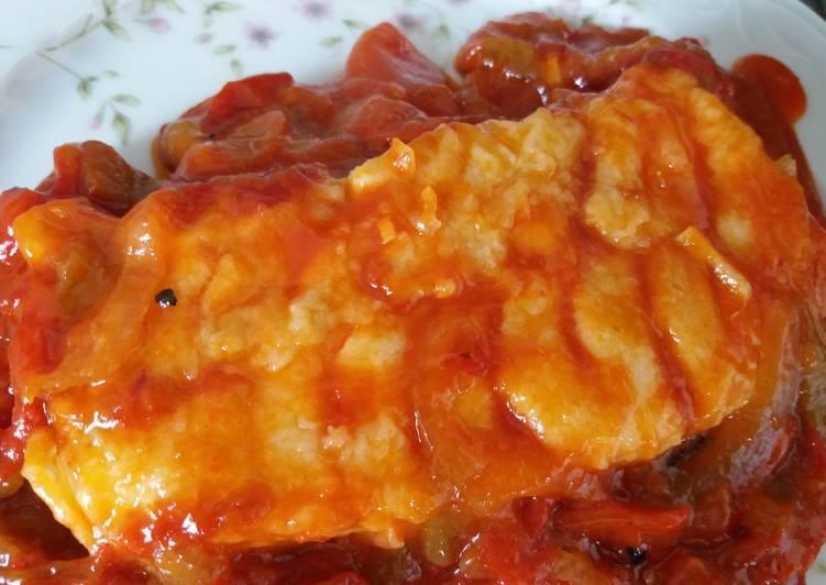 Bacalao Fresco Con Tomate Y Pimientos Receta De Marga