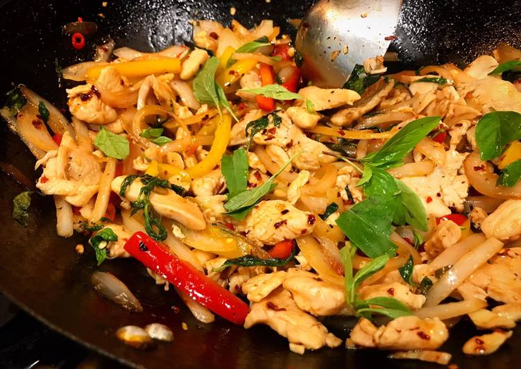 Accessible Thai Basil Chicken