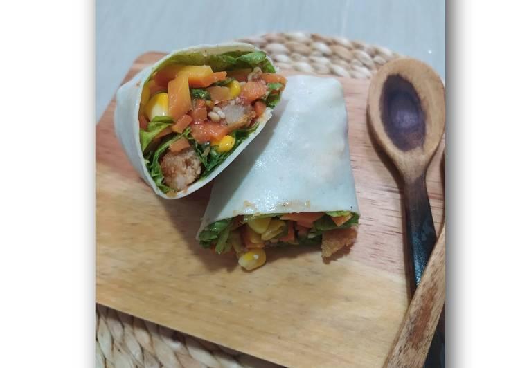 Resep Praktis Salad wrap ala KFC Cita Rasa Tinggi