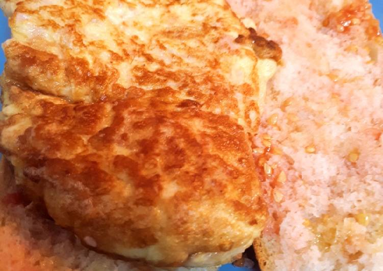 Omelette de jamón York y queso