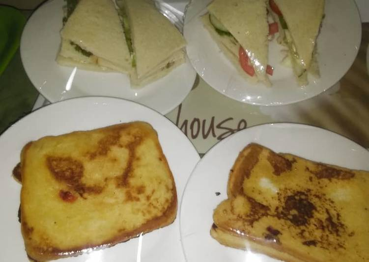 Bread sandwich and French toast