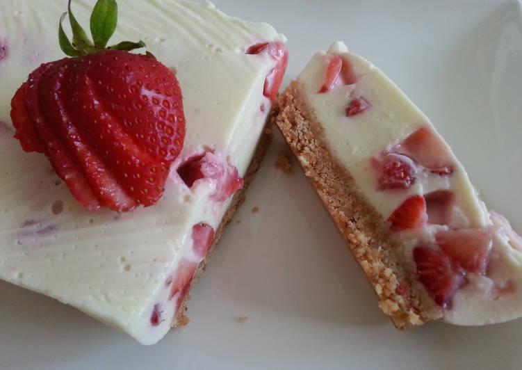 Recettes Terrine fraise & chocolat blanc