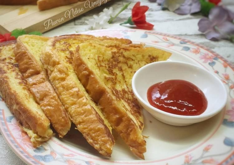 Cara Mudah Masak: Fried French Toast / Roti Telur Goreng Simple