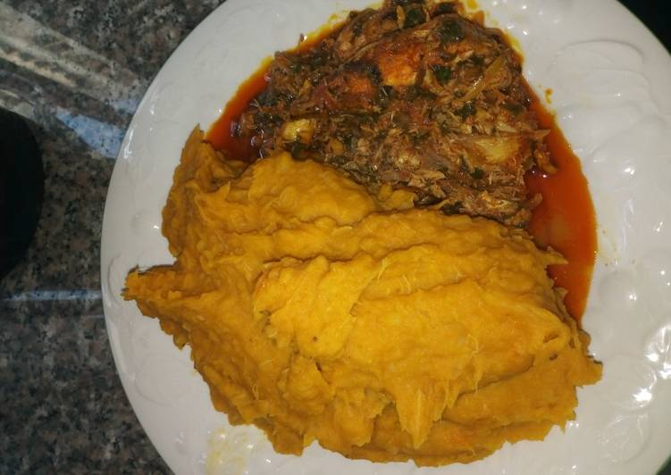 Steps to Prepare Speedy Temburu with Catfish Stew