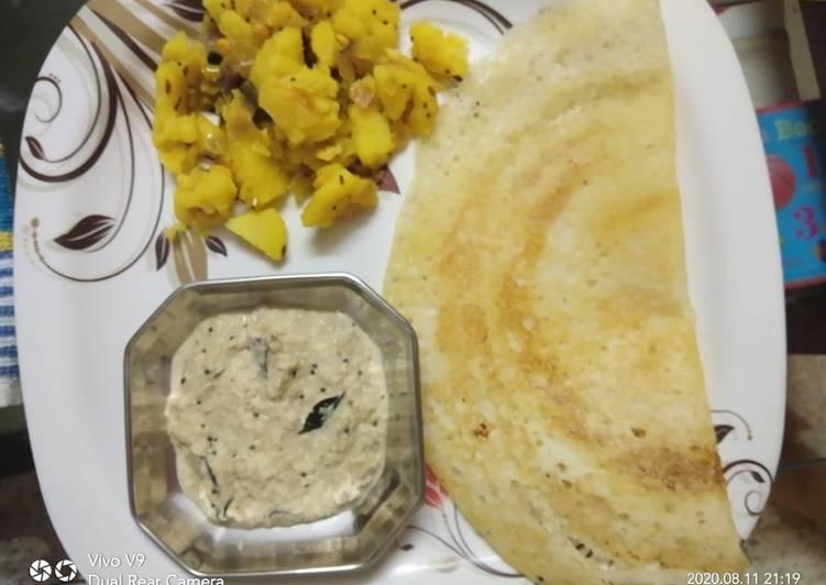 Recipe of Homemade Masala Dosa