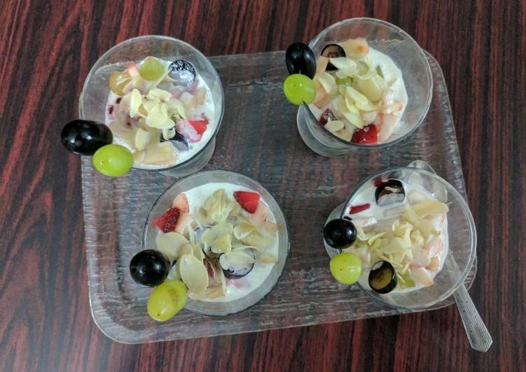 Recipe of Any-night-of-the-week Mixed fruit dessert