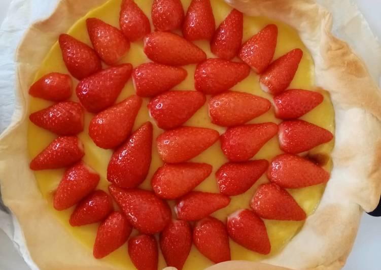 Comment pour faire Fait maison Tarte aux fraises 🍓