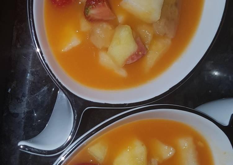 Pumpkin fruits salad